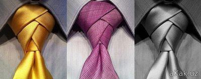 как завязывать галстук!!!